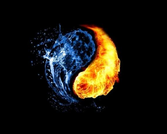 Огонь-вода, борьба противоположностей
